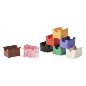 """3.5"""" x 2.5"""" Plastic Sugar Caddy, 2"""" Deep"""