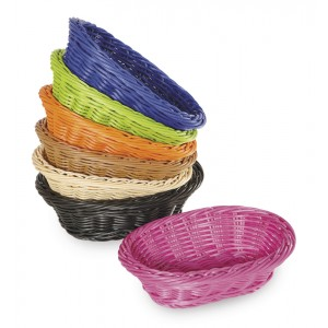 "9"" x 6.75"" Oval Basket, 2.5"" Deep"