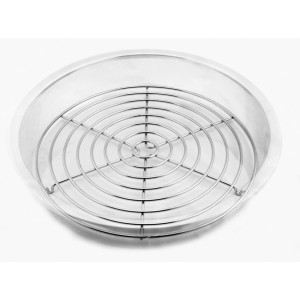"""12.5"""" Full Circle Chrome Wire Grate, 0.75"""" Tall"""