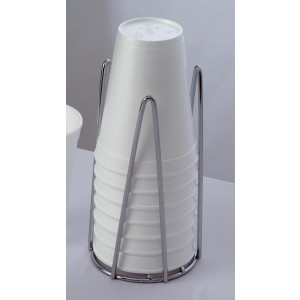 """3"""" Chrome Plated Wire Cup Holder, 7"""" tall"""