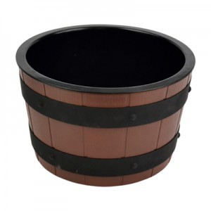 Barrel Bowl Set(Plain Melamine Insert)  3.9L