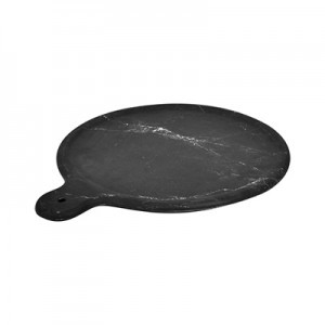 8.5'' Black Carrara Marble Melamine Platter