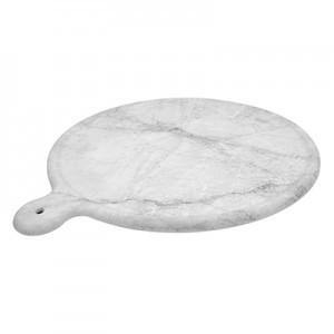 13.5'' White Carrara Marble Melamine Platter