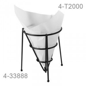"7"" x 7"" Food-Safe Double-Open Bag / Wire Cone Basket Liner / Deli Wrap, White, 2000 pieces./cs."