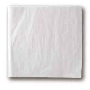 "12"" x 12"" Food-Safe Tissue Liner, White, 1000 pieces./cs."