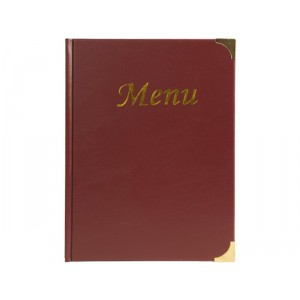 Securit Basic A4 menu holder, 4 fixed inserts (displays 8 A4 pages)